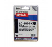 Картридж Brother DCP-145C/6690CW/MFC-250C (LC980BK) ч (16ml, Pigment) MyInk