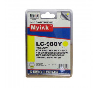 Картридж Brother DCP-145C/6690CW/MFC-250C (LC980Y) жел (18ml, Dye) MyInk