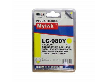 Картридж BROTHER LC980Y желтый MyInk