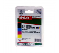 Картриджи заправленные ПЗК (PGI-425BK,CLI-426BK/C/M/Y) для Canon Pixma IP4840/MG6140/8140, автосброс, 5шт MyInk