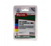 Картриджи заправленные ПЗК (PGI-525Bk,CLI-526BK/C/M/Y) для Canon Pixma iP4850/MG5250/MG5150, автосброс, 5шт MyInk