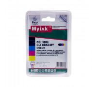 Картриджи заправленные ПЗК (PGI-5Bk,CLI-8BK/C/M/Y) для Canon Pixma iP4200/5200 5 шт, автосброс, MyInk