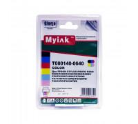 Картриджи заправленные ПЗК (T0801-0806) для Epson St Photo P50 6шт, автосброс, MyInk