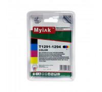 Картриджи заправленные ПЗК (T1291-1294) для Epson St SX525/620/B42/BX525/625/635/925/935/WF7, автосброс, 4 шт MyInk
