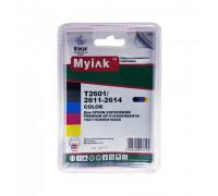 Картриджи заправленные ПЗК (T2601,T2611-2614) для Epson Expression Premium XP-600/605/700/800, автосброс, 5 шт MyInk