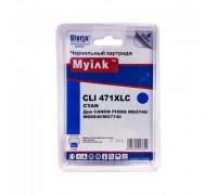 Картридж CANON CLI-471XLC PIXMA MG7740/6840/5740 син MyInk