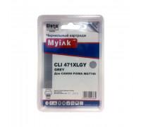 Картридж CANON CLI-471XL GY серый MyInk