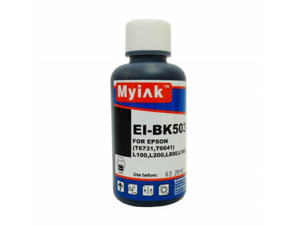 Чернила для EPSON (T6641/T6731) L100/ L200/L800/L1800 (100мл, black, Dye) EI-BK503 Gloria MyInk