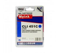 Картридж CANON CLI-451XLC голубой MyInk
