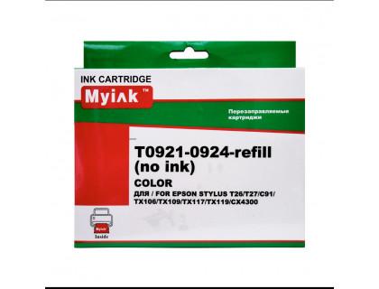 Перезаправляемые картриджи (ПЗК) (БЕЗ ЧЕРНИЛ) для EPSON C91, CX4300, T27, TX106, TX109, TX117, TX119 (T0921, T0922, T0923, T0924) MyInk