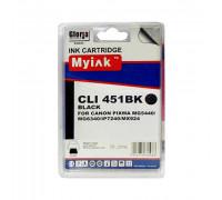 Картридж для CANON CLI-451 XLBK PIXMA iP7240/MG6340/5440/7140 ч (12ml, Dye) MyInk