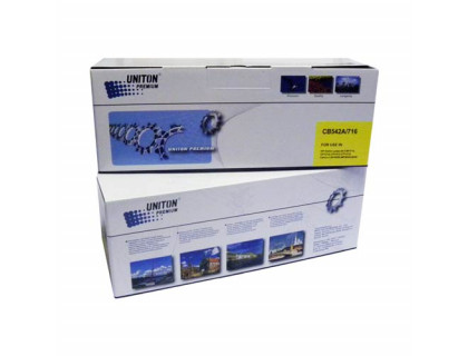 Картридж для HP Color LJ CP 1215/ CM 1312 CB542A (125A)/ CANON LBP-5050 Cartridge 716Y желт (1,4K) UNITON Premium