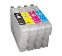 Набор картриджей ПЗК (T1701-1704) для Epson Expression Home XP-33/103/203/207/303/306/403/406/313/413 4 шт. Re-XP313 auto (БЕЗ ЧЕРНИЛ) IST