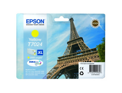 Картридж (T7024) EPSON WorkForce Pro WP-4015/4025/4515/4525/4535 желт Китай