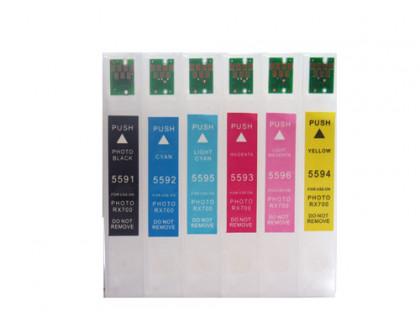 Перезаправляемые картриджи (ПЗК) для МФУ Epson Stylus Photo RX700 (T5591, T5592, T5593, T5594, T5595, T5596) IST