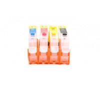 Перезаправляемые картриджи (ПЗК) для HP Deskjet Ink Advantage (HP 655) 6525, 4625, 4615, 3525, 5525, 4шт, с чипами Yuxunda