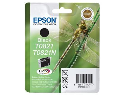 Картридж (T0821N) EPSON R270/390/RX590/TX700 ч InkTec