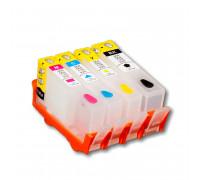 Перезаправляемые картриджи (ПЗК) для HP Deskjet Ink Advantage (HP 655) 6525, 4625, 4615, 3525, 5525, 4шт, с чипами IST