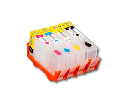 Набор картриджей ПЗК (655) для HP Deskjet Ink Advantage 3525/4615/4620/4625/5525/6525 4 шт, Re-HP655 /chip/ IST
