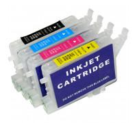Перезаправляемые картриджи (ПЗК) для Epson Stylus (T0631/0632/0633/0634) C67, C87, CX3700, CX4100, CX4700, CX5700, CX7700 (T0631, T0632, T0633, T0634), с чипами, комплект 4 шт IST