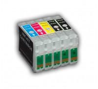 Перезаправляемые картриджи (ПЗК) для Epson Stylus Office (T0731*2-0734) C110, T30, TX510FN, TX510, с чипами 5 картриджей IST