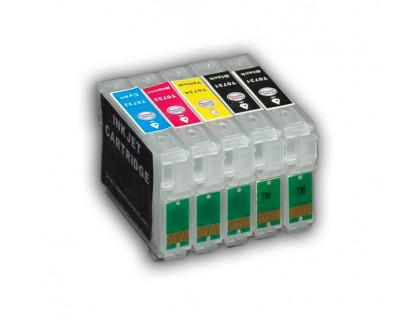 Набор картриджей ПЗК (T0731*2-0734) для Epson St Office T30/TX510/C110 5 шт (Re-T30/TX510) auto IST