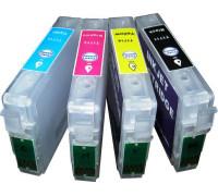 Перезаправляемые картриджи (ПЗК) для Epson Expression Home (T1711-1714) XP-103, XP-303, XP-207, XP-203, XP-406, XP-306, XP-33, XP-403, XP-313, XP-413, XP-423, XP-323, 4 шт, с чипами Yuxunda