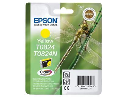 Картридж EPSON T0824N желтый InkTec