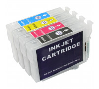 Перезаправляемые картриджи (ПЗК) для Epson (T0731-0734) TX210, TX410, TX200, TX219, TX400, TX209, T40W, C79, TX200, TX300F, CX3900, TX409, 4 шт, с чипами IST