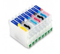 Перезаправляемые картриджи (ПЗК) для Epson Stylus Photo (T0540-0544/T0547-0549) R800, R1800, 8 шт, с чипами IST