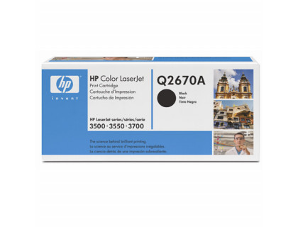 Картридж Q2670A Hewlett Packard (HP) Black (черный) (6000 копий) UNITON Eco