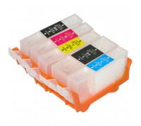 Перезаправляемые картриджи (ПЗК) для Canon PIXMA (PGI-425PGBK,CLI-426BK, C, M, Y) MG5340, MG5140, iP4940, iX6540, iP4840, MG5240, MX884, MX894, MX714 с чипами, комплект из 5 шт IST