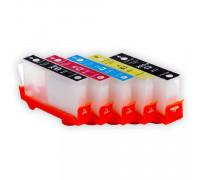 Перезаправляемые картриджи (ПЗК) для HP Photosmart 7510, C5383, D5463, C5380, C310b, C6383, D5460, C410c, C6380, D7560, C309g, C6375, B8550, C309h, C6324, C310a, C309c, C5324 (HP178) 5 цветов, с чипами IST