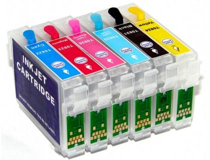 Перезаправляемые картриджи (ПЗК) для Epson T50, TX650, T59, RX690, RX610, RX615, RX590, RX650, RX659, TX659, TX700W, TX710W, TX800FW, 1410, R270, R290 IST