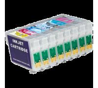 Набор картриджей ПЗК (T0870-0874,T0877-0879) для Epson St Photo R1900 8 шт RE- R1900 IST