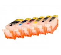 Перезаправляемые картриджи (ПЗК) для Canon PIXMA (PGI-425BK,CLI-426BK/C/M/Y/GY) MG6240, MG6140, MG8240, MG8140, 6 шт, с авто-чипами Yuxunda