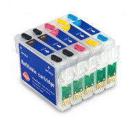 Перезаправляемые картриджи (ПЗК) для Epson Stylus Office T1100 (T1041, T1032, T1033, T1034), 5 шт, с чипами IST